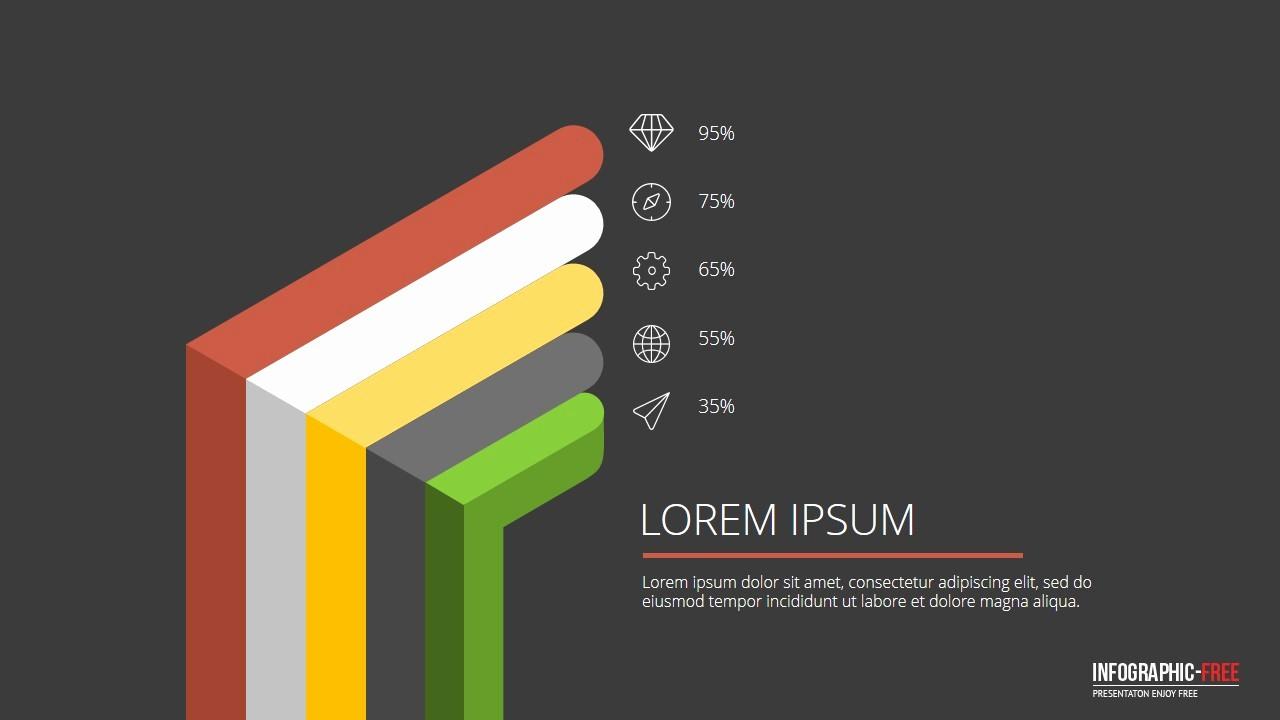 Free Downloadable Powerpoint Presentation Templates Best Of Free Powerpoint Template with Flat 3d Design Banner