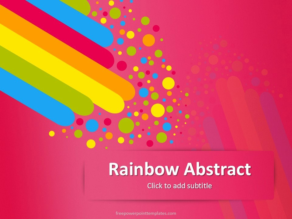 Free Downloadable Powerpoint Presentation Templates Lovely Free Pink Rainbow Abstract Powerpoint Template