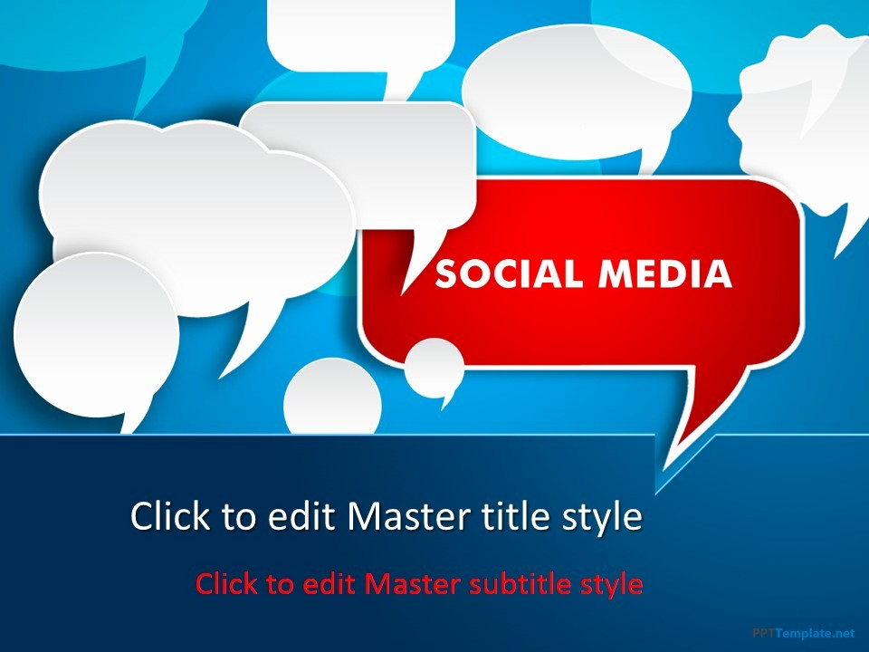 Free Downloadable Powerpoint Presentation Templates Lovely Free social Media Discussion Ppt Template