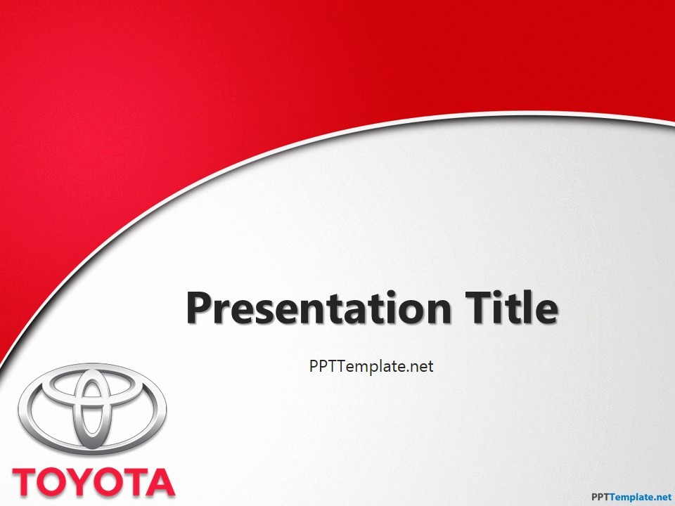 Free Downloadable Powerpoint Presentation Templates Lovely Free toyota with Logo Ppt Template