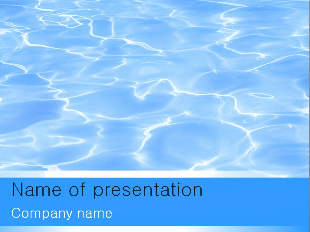 Free Downloadable Powerpoint Presentation Templates New Blue Water Powerpoint Template for Impressive Presentation