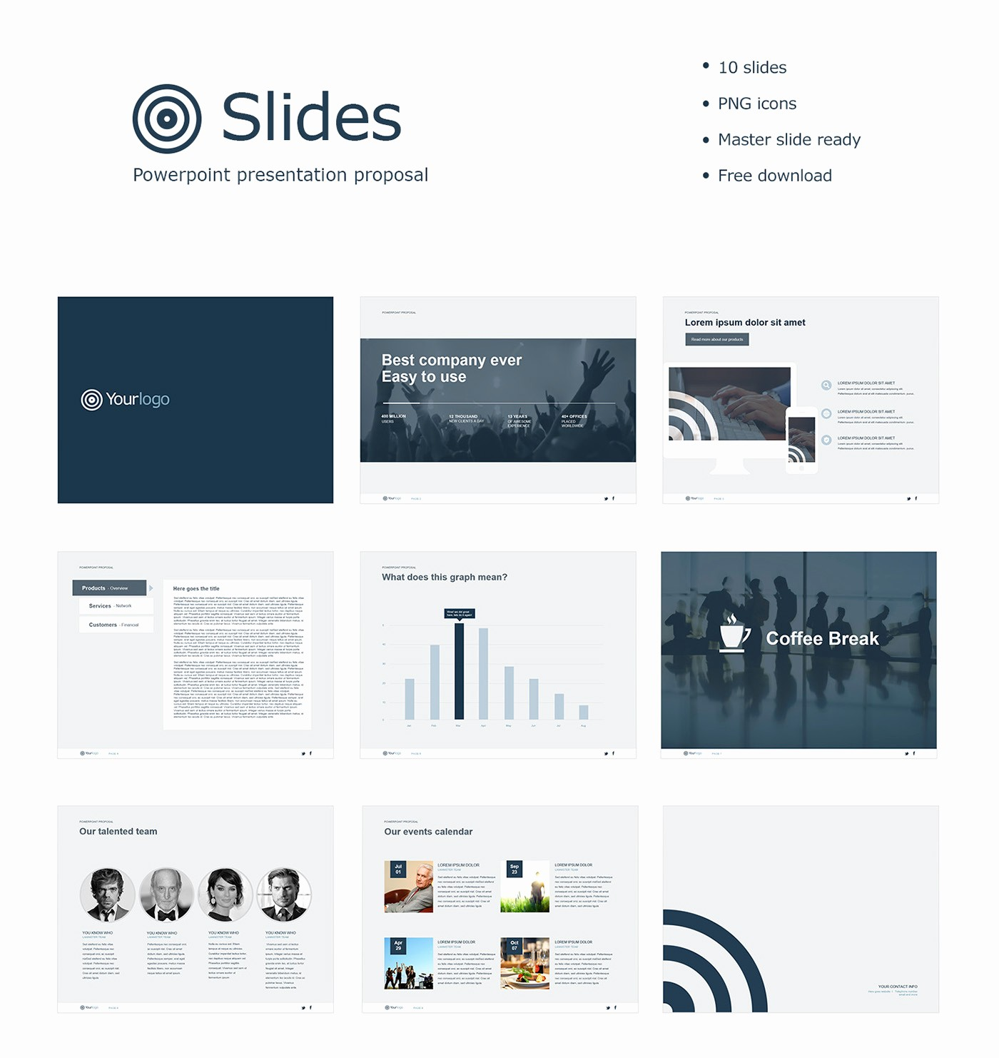 Free Downloadable Powerpoint Presentation Templates Unique Free Powerpoint Template On Behance