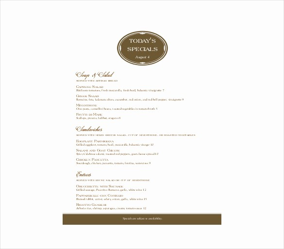 Free Downloadable Restaurant Menu Templates Awesome 23 Free Menu Templates Pdf Doc Excel Psd