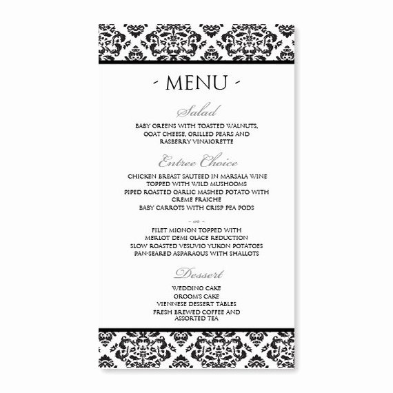 Free Downloadable Restaurant Menu Templates Fresh Diy Menu Card Template Instant Download Edit by Karmakweddings