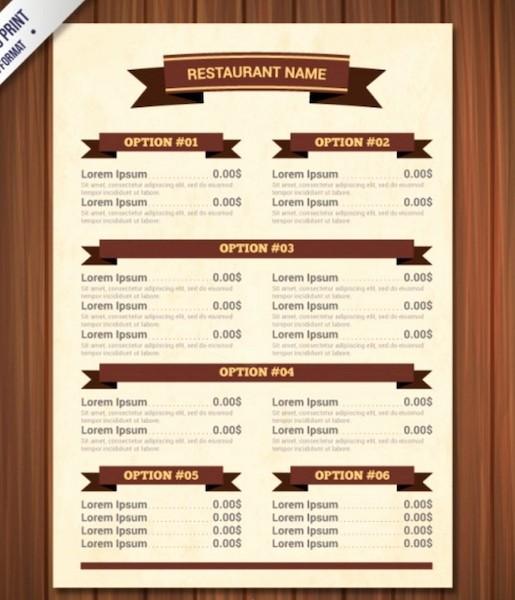 Free Downloadable Restaurant Menu Templates Inspirational Restaurant Menu Template