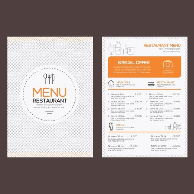 Free Downloadable Restaurant Menu Templates New Restaurant Menu Template Vector