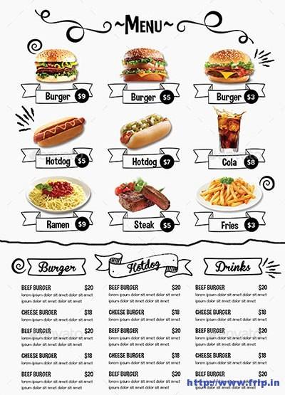 Free Downloadable Restaurant Menu Templates Unique Gallery Free Printable Template Restaurant Menus Human
