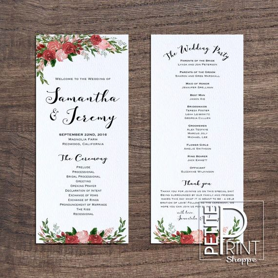 Free Downloadable Wedding Programs Templates Beautiful Best 25 Wedding Program Templates Ideas On Pinterest