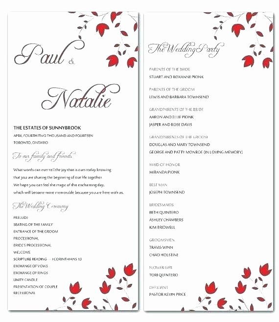 Free Downloadable Wedding Programs Templates Beautiful Church Program Template Snapshot Templates Wedding Service