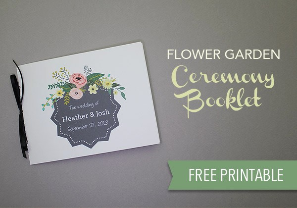 Free Downloadable Wedding Programs Templates Beautiful Free Wedding Program Template Download & Print