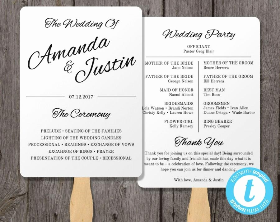 Free Downloadable Wedding Programs Templates Best Of Printable Wedding Programs Templates