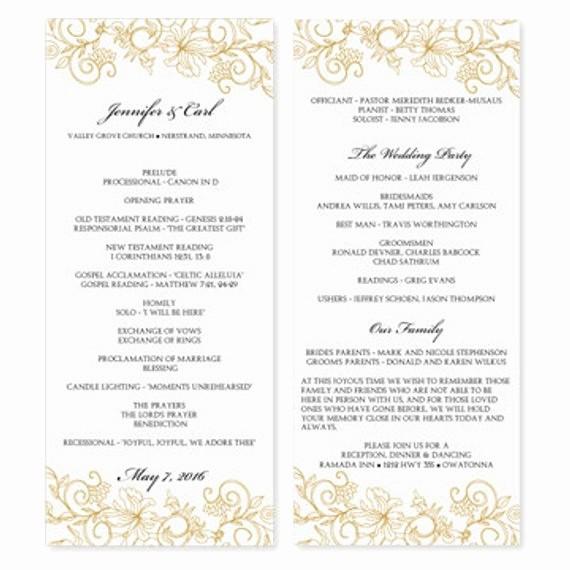 Free Downloadable Wedding Programs Templates Best Of Wedding Program Template Download Instantly by Karmakweddings