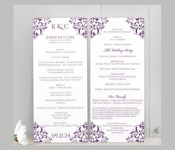 Free Downloadable Wedding Programs Templates Elegant Free Downloadable Wedding Program Template that Can Be