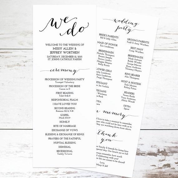 Free Downloadable Wedding Programs Templates Elegant Printable Wedding Program Template Rustic Wedding Programs