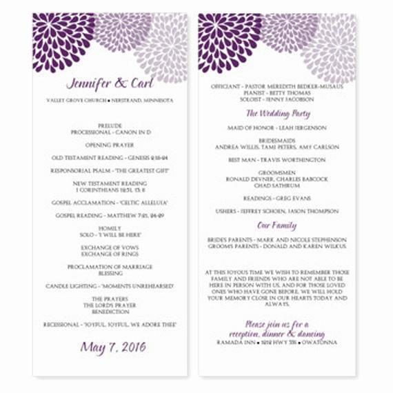 Free Downloadable Wedding Programs Templates Elegant Wedding Program Template Download Instantly by Karmakweddings