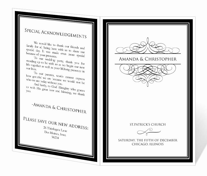 Free Downloadable Wedding Programs Templates Elegant Wedding Program Template Printable Instant Download