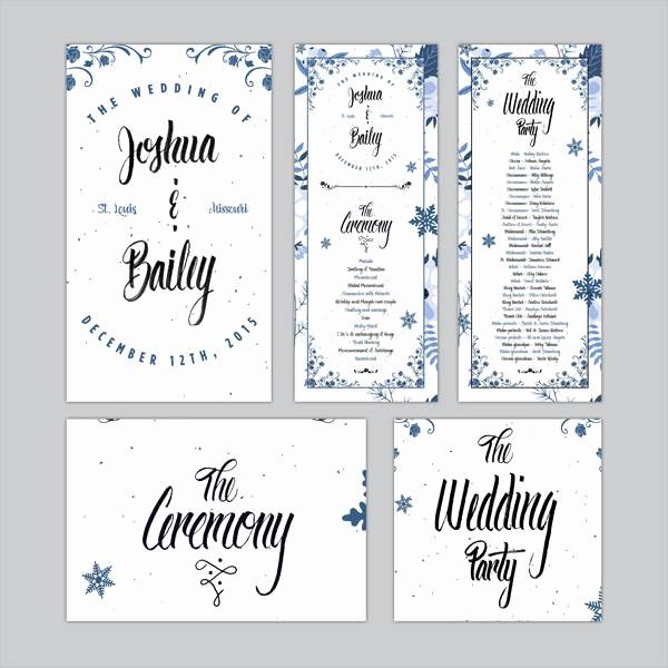 Free Downloadable Wedding Programs Templates Fresh Free Wedding Program Templates 9 Free Psd Vector Ai