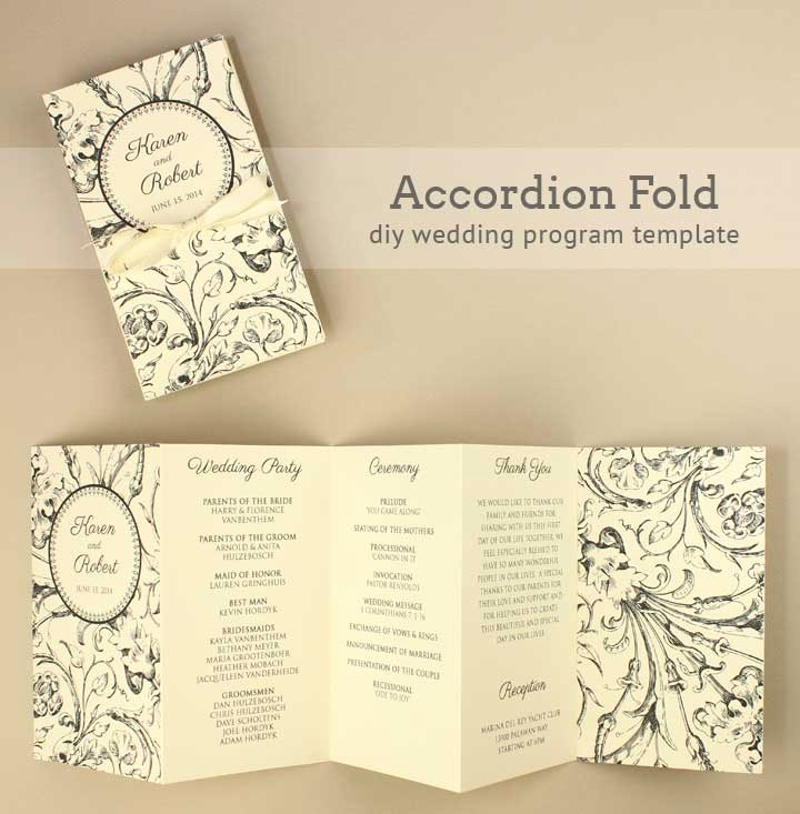 Free Downloadable Wedding Programs Templates Inspirational Diy Tutorial Free Printable Folded Wedding Program Boho