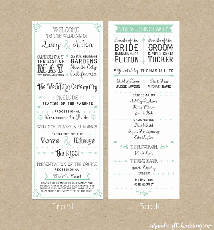 Free Downloadable Wedding Programs Templates Inspirational Free Printable Wedding Invitation Template