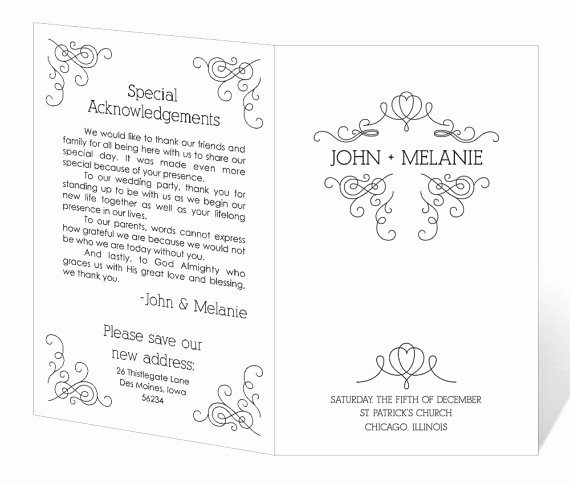 Free Downloadable Wedding Programs Templates Inspirational Free Printable Wedding Program