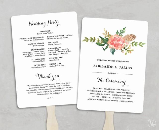 Free Downloadable Wedding Programs Templates Lovely Printable Wedding Program Template Fan Wedding Programs