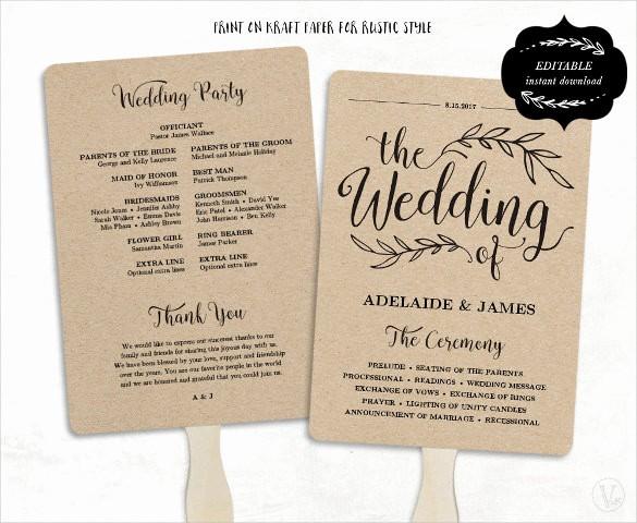 Free Downloadable Wedding Programs Templates New Wedding Program Template 41 Free Word Pdf Psd