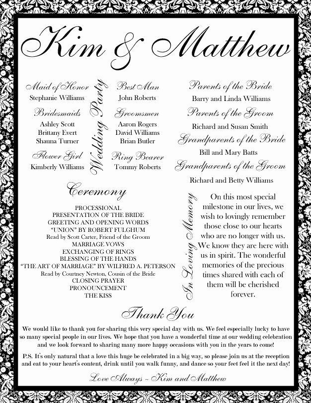 Free Downloadable Wedding Programs Templates Unique 35 Best Printable Wedding Programs Images On Pinterest