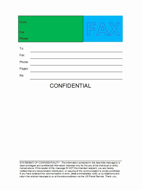 Free Downloads Fax Cover Sheet Lovely 40 Printable Fax Cover Sheet Templates Free Template