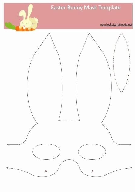 Free Easter Templates for Word Awesome 25 Best Ideas About Bunny Mask On Pinterest