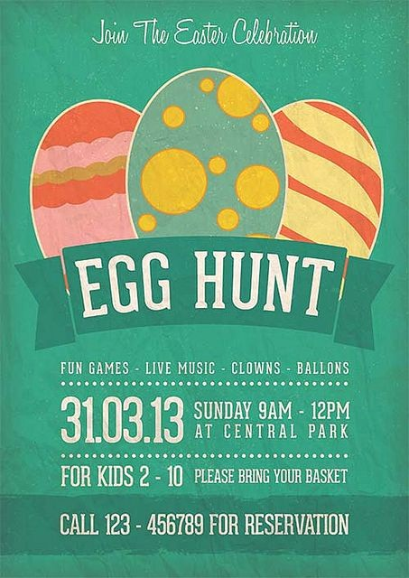 Free Easter Templates for Word Beautiful Egg Hunt Easter Celebration Flyer Template