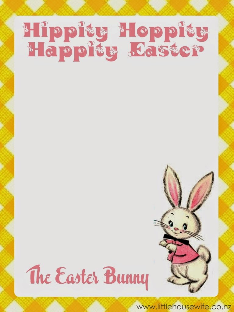 Free Easter Templates for Word Beautiful Little Housewife Letter From the Easter Bunny