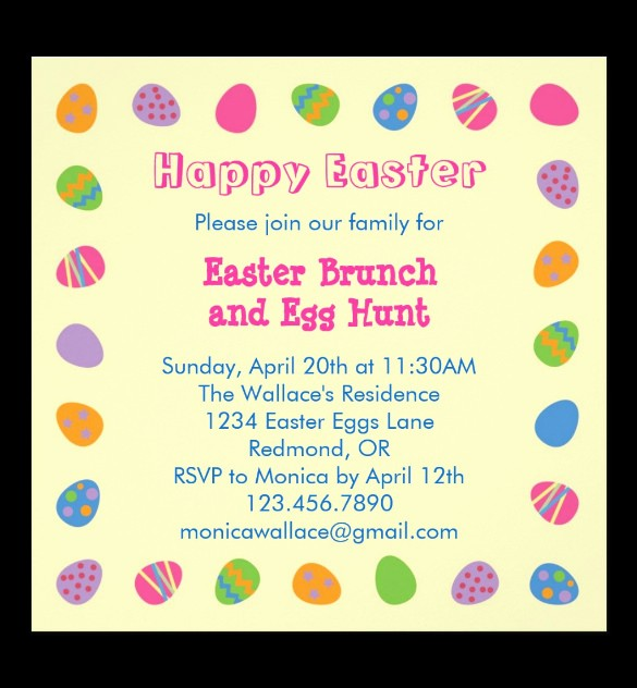Free Easter Templates for Word Best Of 38 Lunch Invitation Templates Psd Ai Word