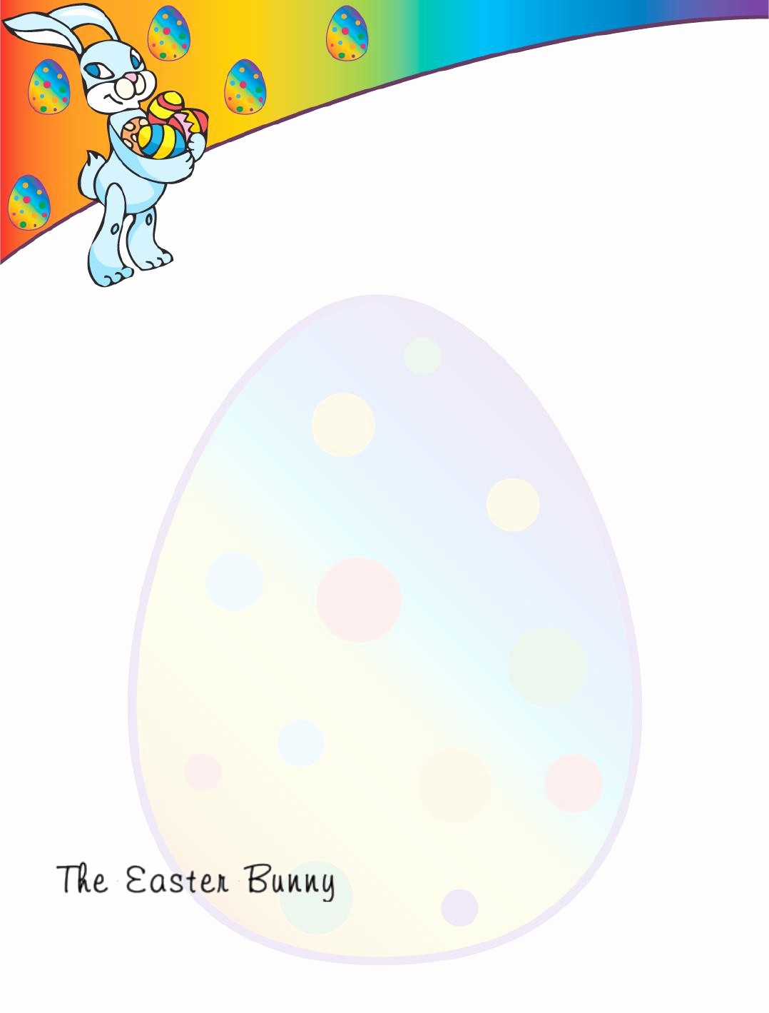 Free Easter Templates for Word Best Of Easter Bunny Letter Templates Word – Hd Easter