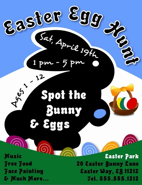 Free Easter Templates for Word Elegant Free Downloadable Easter Egg Hunt Flyer Template