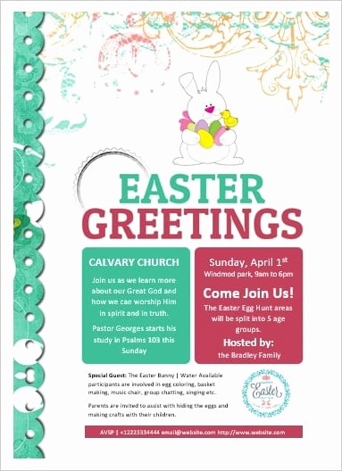 Free Easter Templates for Word Elegant Ms Word Easter Flyer