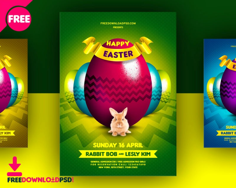Free Easter Templates for Word Inspirational 03 Colors Happy Easter Flyer Free Psd