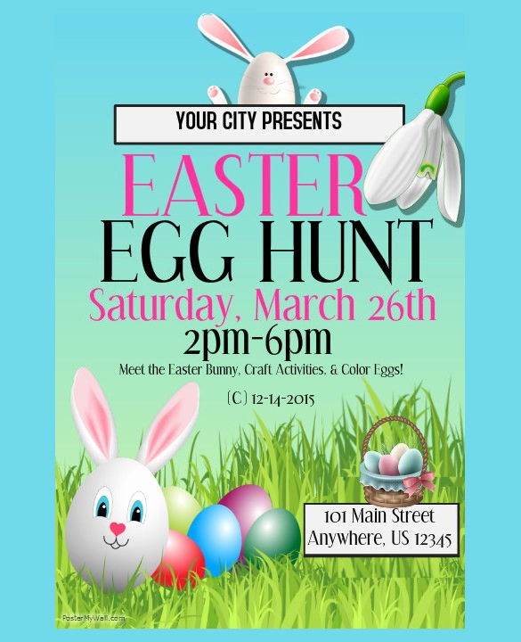 Free Easter Templates for Word Inspirational 16 Easter Poster Templates – Free Sample Example format