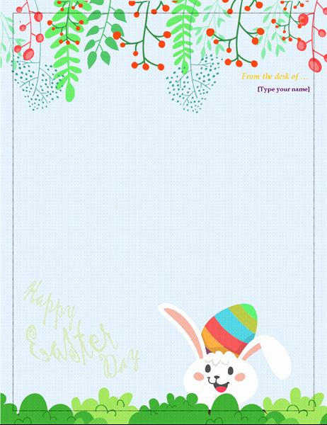 Free Easter Templates for Word Inspirational Easter Stationery