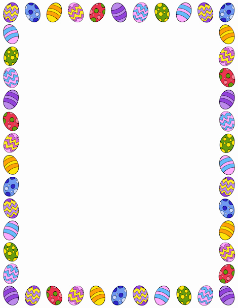Free Easter Templates for Word Lovely Pin by Muse Printables On Page Borders and Border Clip Art