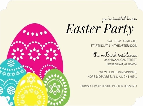 Free Easter Templates for Word New Easter Invitation Template Beepmunk