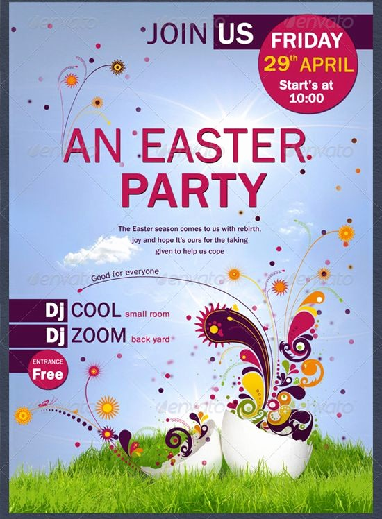 Free Easter Templates for Word New Easter Party Flyer Template by Coolflyersviantart