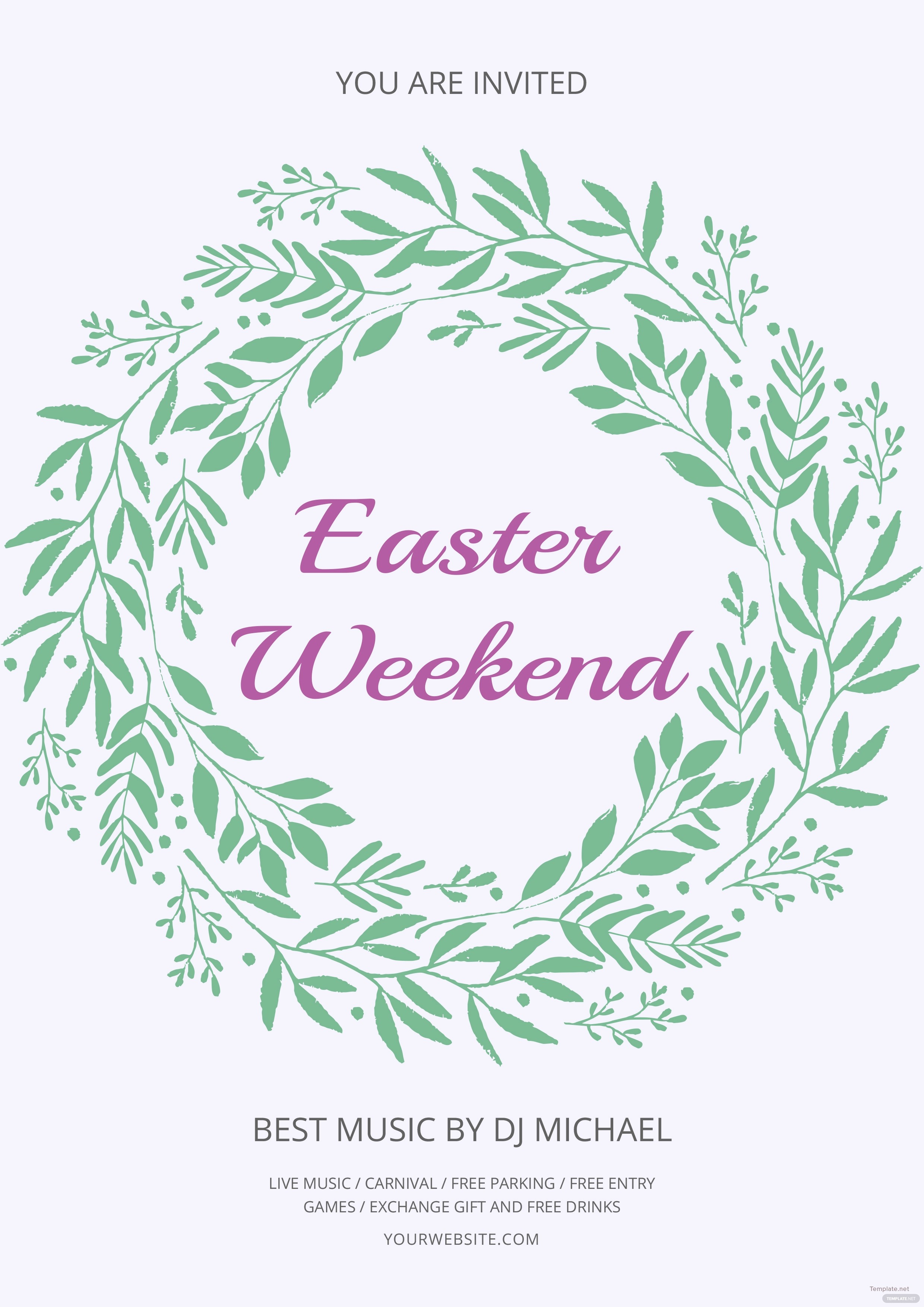 Free Easter Templates for Word Unique Free Easter Weekend Flyer Template In Adobe Shop