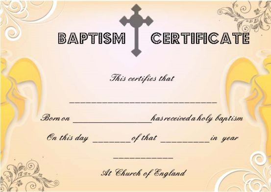 Free Editable Baptism Certificate Template Awesome 30 Baptism Certificate Templates Free Samples Word