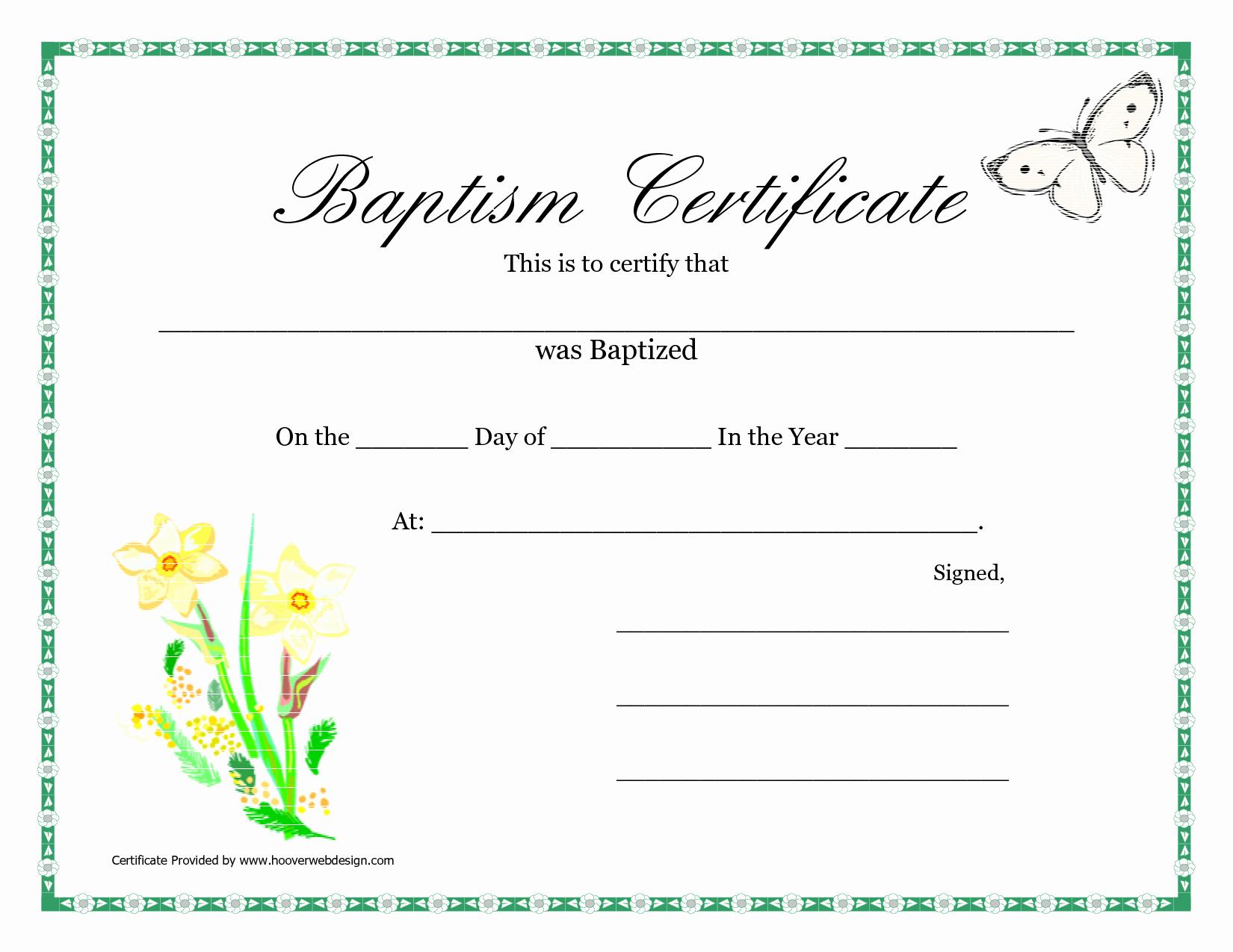 Free Editable Baptism Certificate Template Awesome Printable Certificate Pdfs Baptism