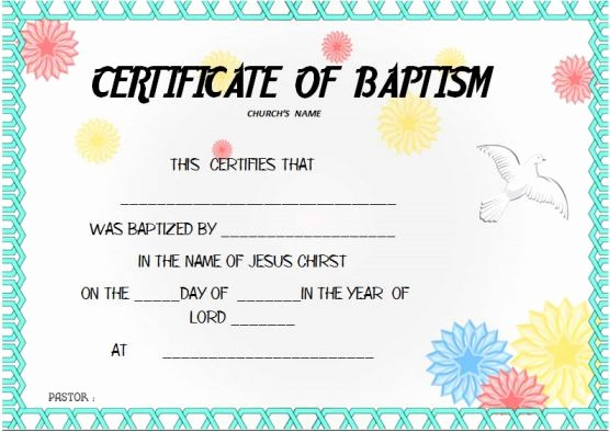 Free Editable Baptism Certificate Template Beautiful 30 Baptism Certificate Templates Free Samples Word