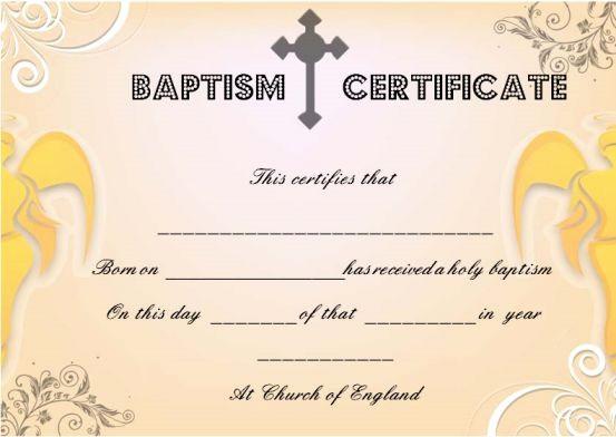Free Editable Baptism Certificate Template Fresh 30 Baptism Certificate Templates Free Samples Word