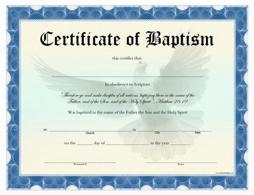Free Editable Baptism Certificate Template Fresh Certificate Of Baptism Free Printable Allfreeprintable
