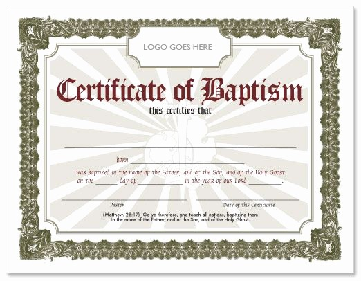 Free Editable Baptism Certificate Template Fresh Editable Baptism Certificate Template