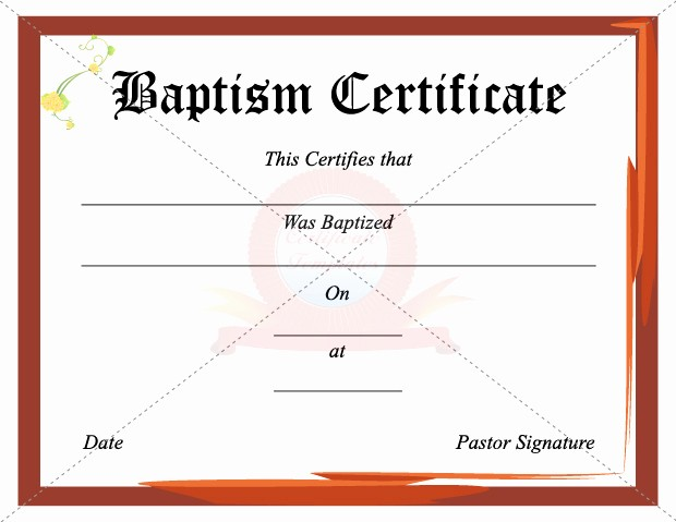 Free Editable Baptism Certificate Template Lovely 43 formal and Informal Editable Certificate Template