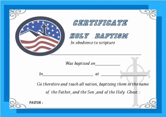 Free Editable Baptism Certificate Template Luxury 30 Baptism Certificate Templates Free Samples Word